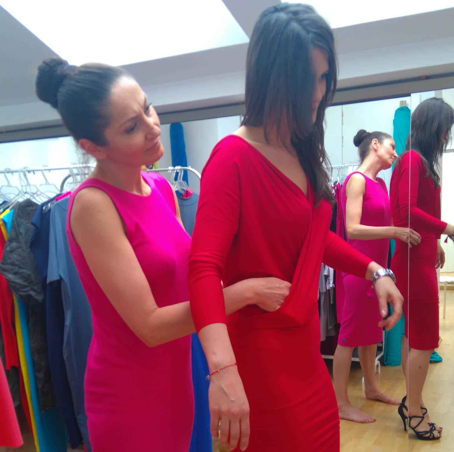 Sukienki szyte na miarę - pierwsze przymiarki
