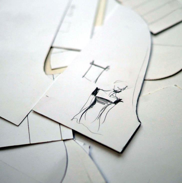 Projekt ubrania na papierze